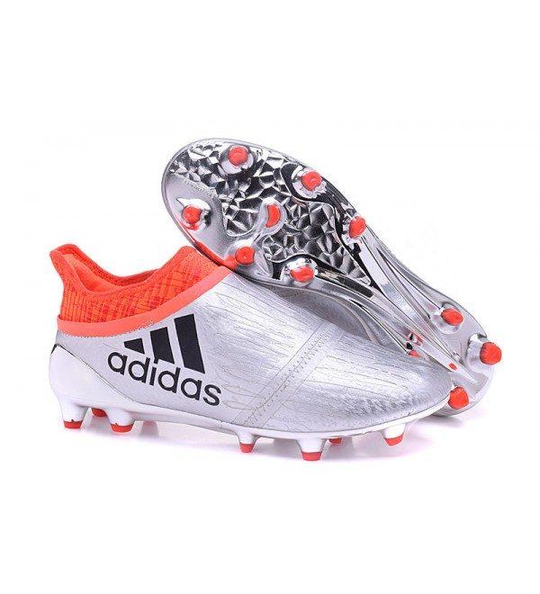 promo code 63fee e8c99 SILVER ORANGE ADIDAS X 16 PURECHAOS FGAG FOOTBALL BOOTS - Sports N Sports