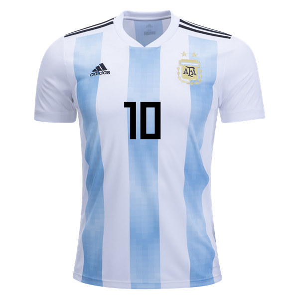 e431ced7e ARGENTINA LIONEL MESSI  10 WHITE   BLUE 2018 WORLD CUP HOME PLAYER JERSEY –  MEN