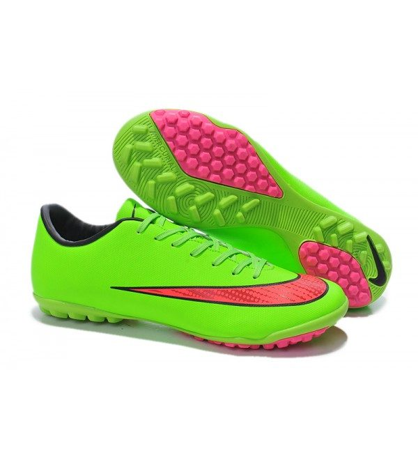 online store 44a85 69d9f LATEST 2014 WORLD CUP NIKE MERCURIAL VICTORY TF X FOOTBALL BOOTS GREEN PINK  - Sports N Sports
