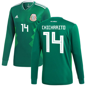 on sale a534a d0081 ADIDAS MEXICO WORLD CUP 2018 CHICHARITO HOME JERSEY