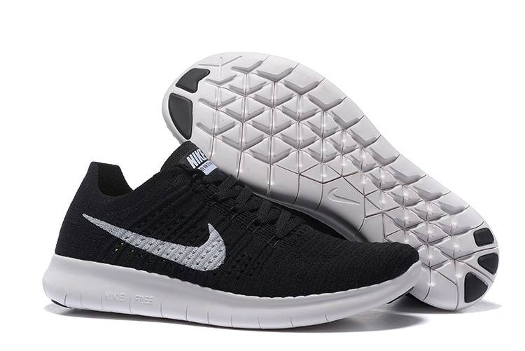 NIKE FREE FLYKNIT 5.0 BLACK WHITE RUNNING SHOES - Sports N Sports 6ebf30c48