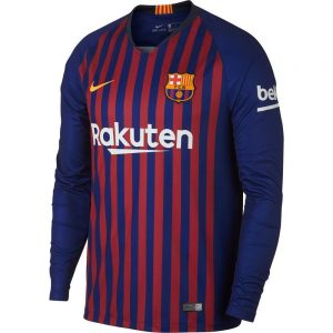 2018-2019 Barcelona Home Long Sleeve Shirt