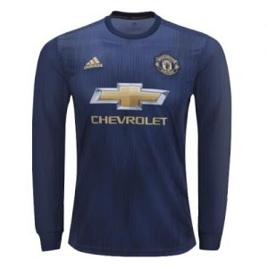 2018-2019 Manchester UTD Long Sleeve Shirt Stuff : Imported Polyester Full Kit : Shirt and shorts