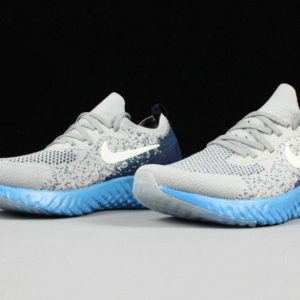 Grey Blue Epic React Flyknit Running Shoes